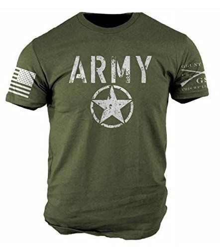 Awesome cotton ultra soft and comfortable army men's T-shirt. Light fabric  proudly printed in the USA.