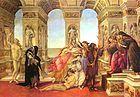 Galería Uffizi - La calumnia de Apeles, Botticelli, 1495.