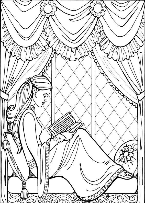 princess leonora adult coloring book pagesprincess