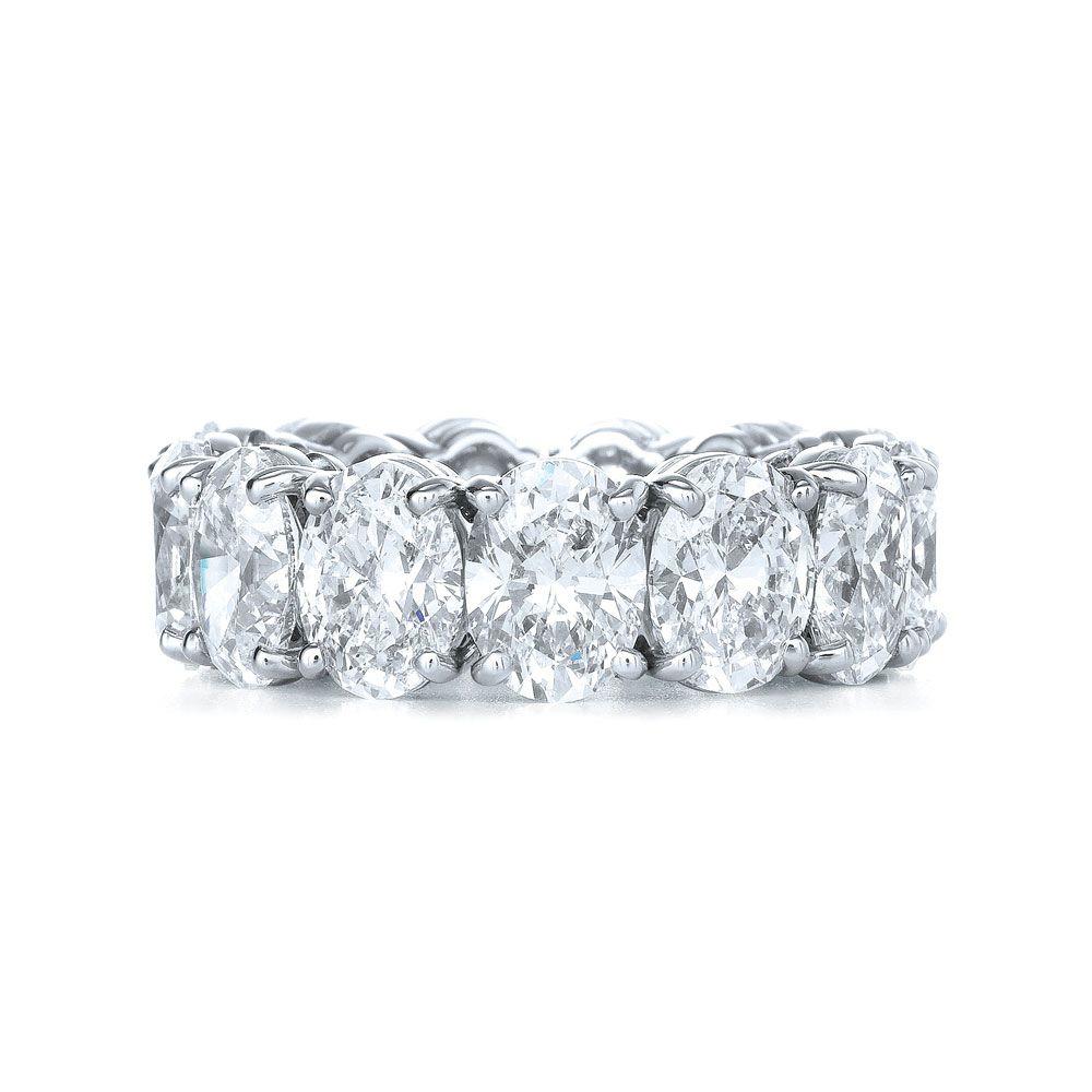 oval diamond wedding band | Oval Diamond Four Prong Wedding Ring ...