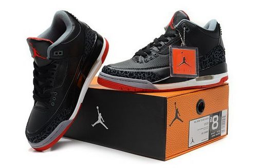 77a031503d40 Nike Air Jordan 3 Iii Cemenst Mens Shoes Black Red White Italy ...