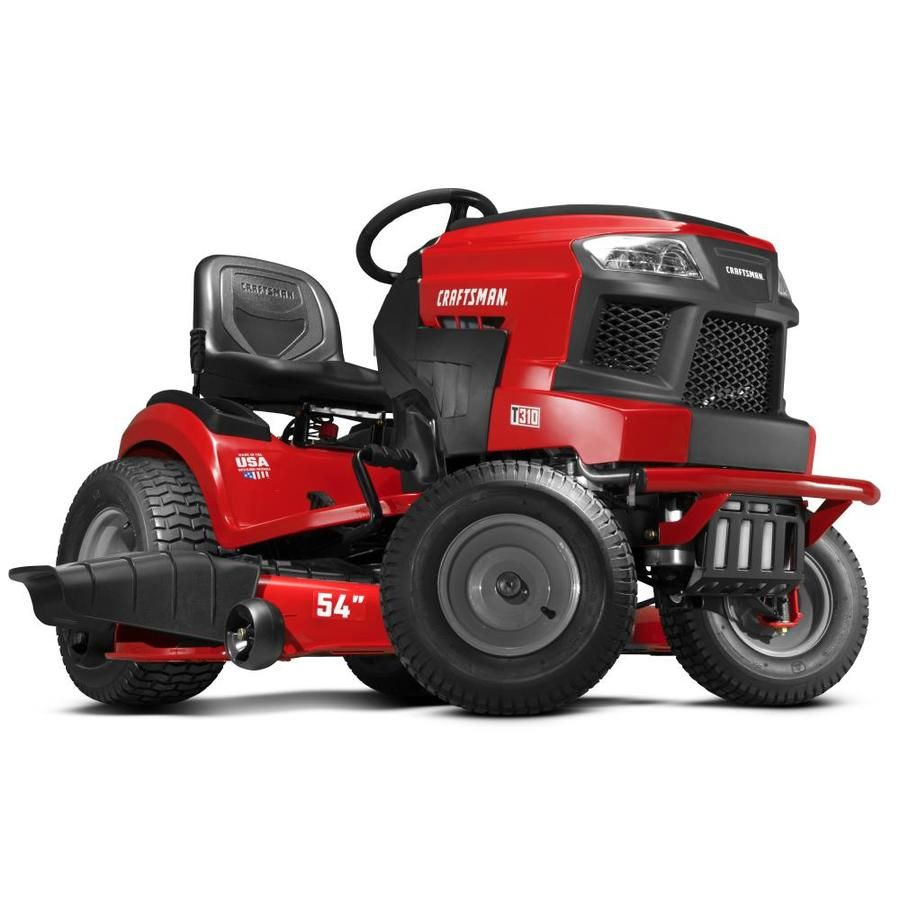 Craftsman T310 Turn Tight 24 Hp V Twin Hydrostatic 54 In Riding Lawn Mower With Mulching Capability Kit Sold Separately Lowes Com In 2021 Lawn Mower Riding Lawn Mowers Mulching [ 900 x 900 Pixel ]