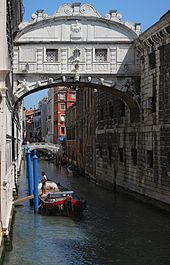 The view from the Bridge of Sighs was the last view of Venice that convicts saw before their imprisonment. On a brighter note, it's said that sharing a kiss while traveling under the bridge in a gondola grants couples eternal love.