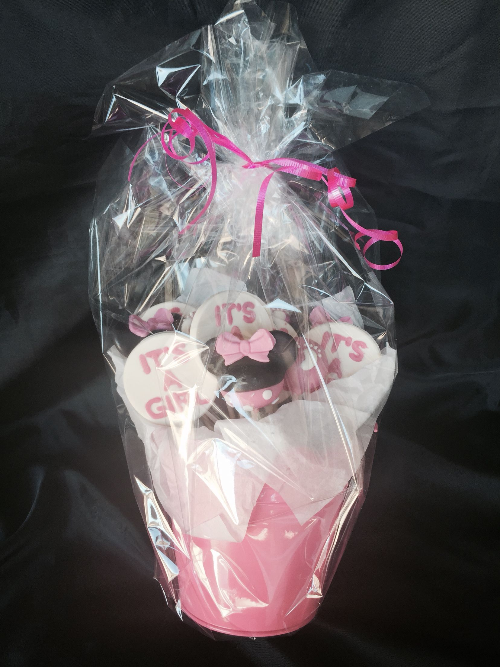 It's a girl/Minnie mouse treat basket
