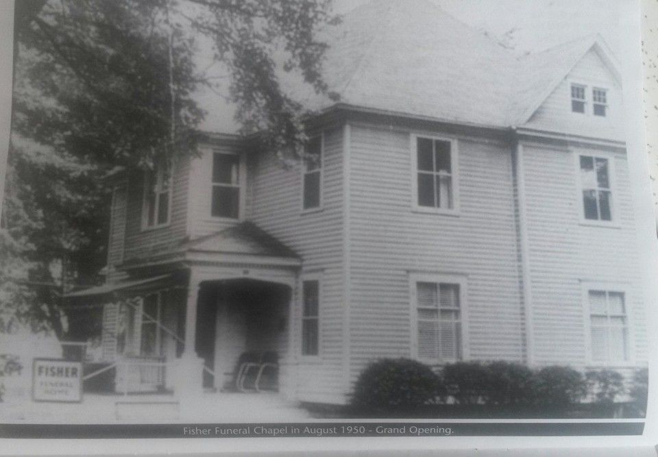 Fisher funeral chapel in august 1950 grand opening