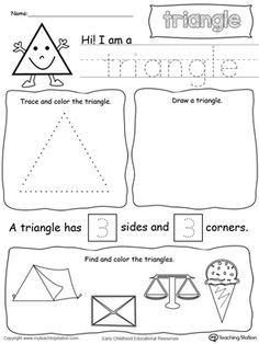 All About Triangle Shapes | Preschool math, Learning ...
