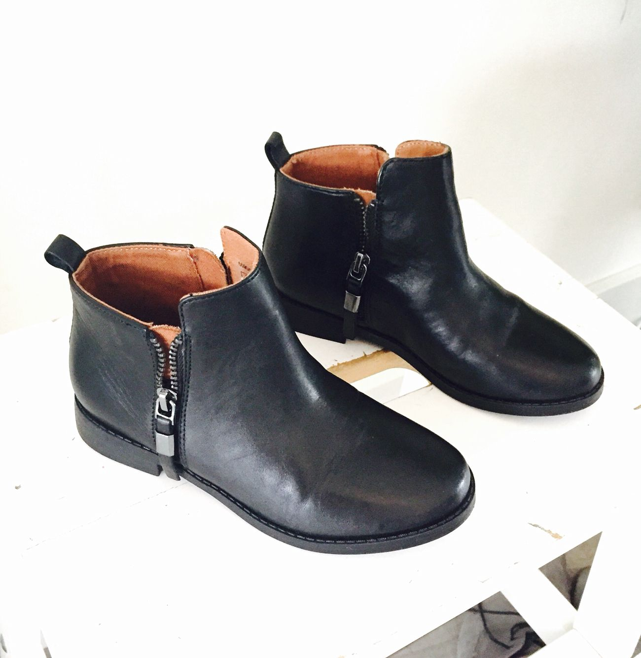 Zara shoes girls collection fall winter 2015 black boots