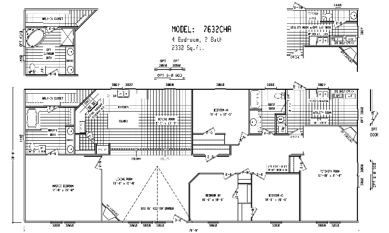 Triple Wide Mobile Home Floor Plans | Double Wide Home Plans ...