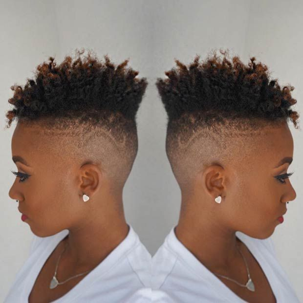 31 Best Short Natural Hairstyles For Black Women Pinterest Fade