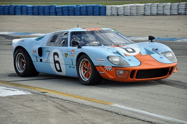 1969 Gt40 In Gulf Livery At The Hsr Sebring Historic Races