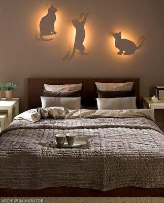 Luminárias de parede gatos