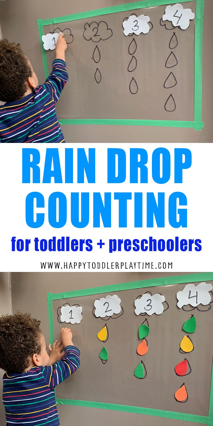 Rain Drop Counting Sticky Wall