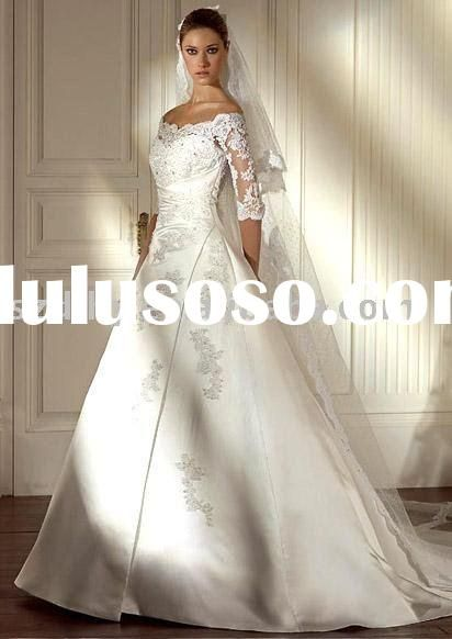 Lace Wedding Gown Patterns With Sleeves