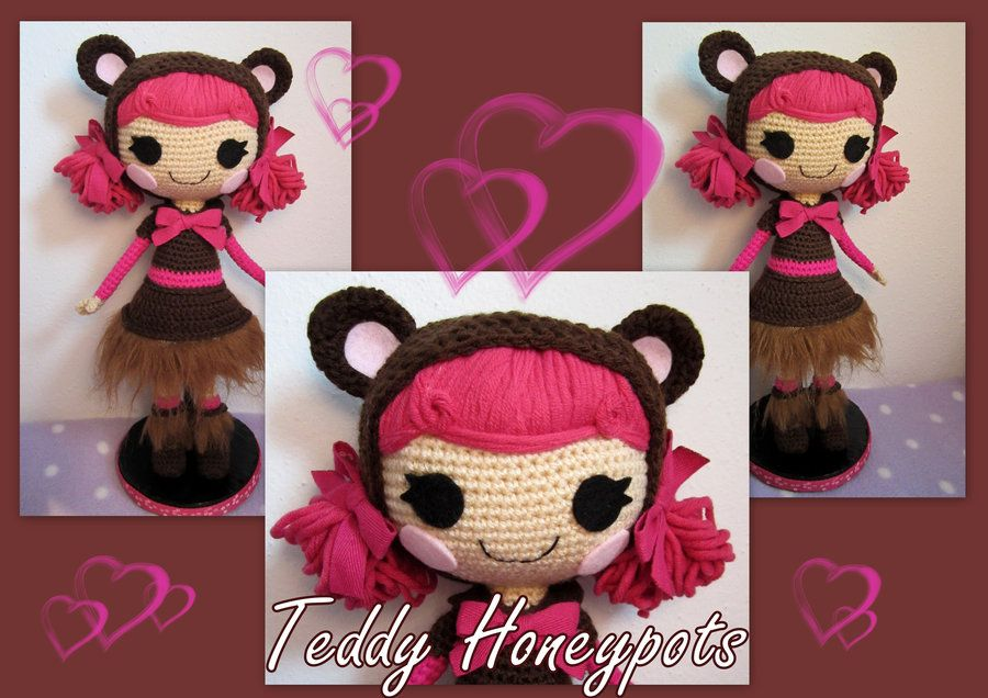 Amigurumi Lalaloopsy Free Pattern : Painted mini lalaloopsy furry grrs a lot by monaudious ooak