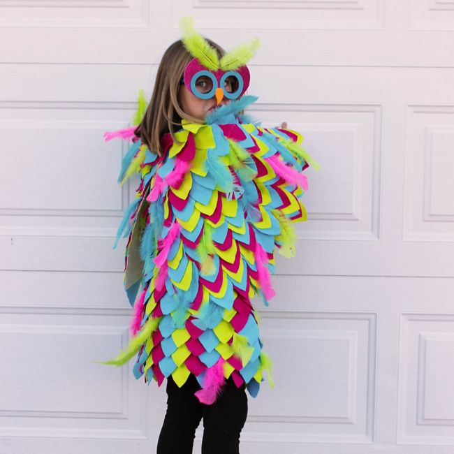Diy halloween costume no sew owl costume wings dress and mask diy halloween costume no sew owl costume wings dress and mask directions solutioingenieria Image collections