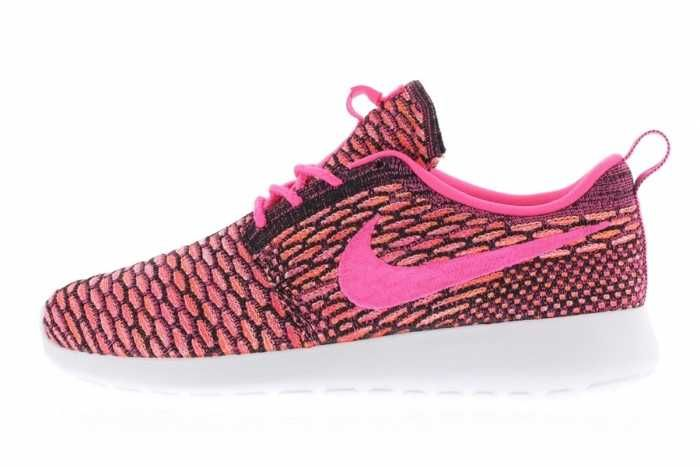 size 40 ecfa3 1f582 Collections Nike Roshe Run Flyknit Womens Pink Pow White Total Orange Black  Friday
