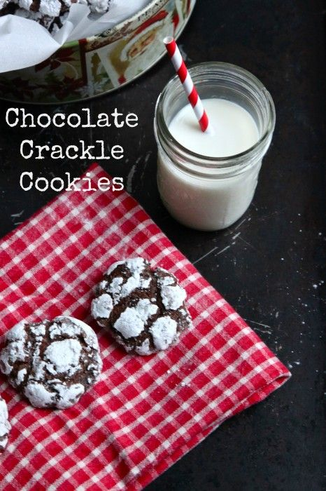 Chocolate Crackle Cookies | TheCornerKitchenBlog.com #recipe #cookies #chocolate