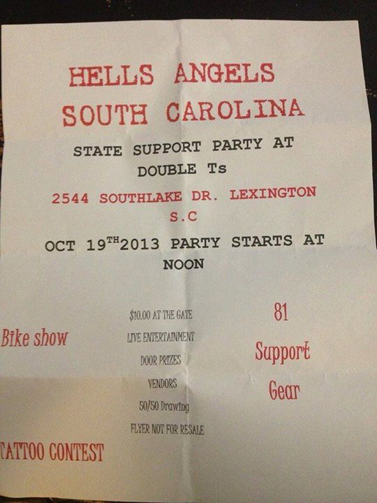 Hells Angels - South Carolina - State Support Party at