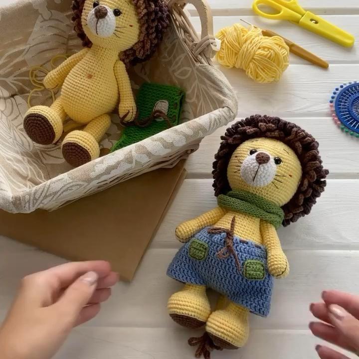 Photo of Crochet PATTERN Cute Amigurumi Yellow Lion