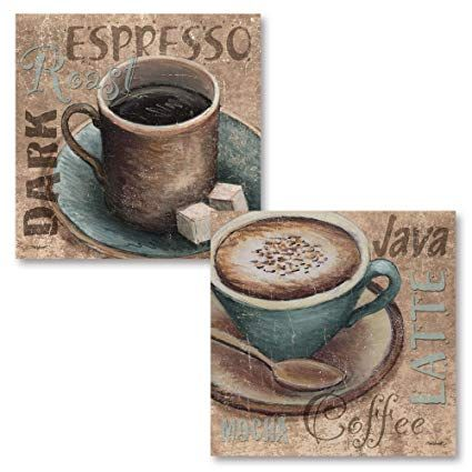 Image result for coffee decor brown blue | Coffee decor, Coffee decor kitchen