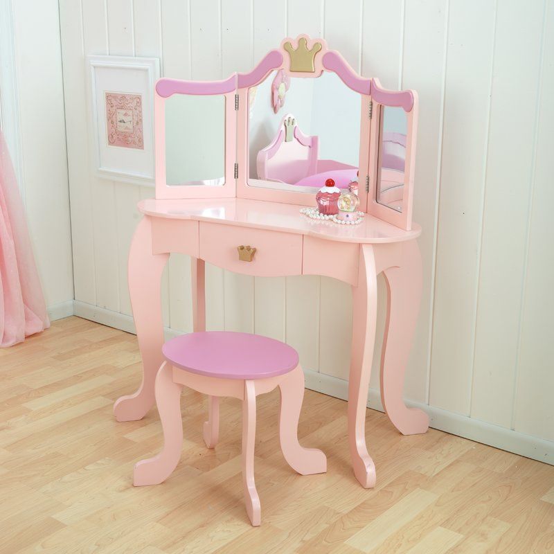 Princess Vanity Set With Mirror Bedroom Vanity Set Princess Furniture Kids Vanity