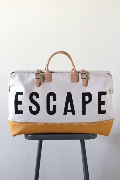 Forestbound ESCAPE Canvas Utility Bag | Utility bag, Escape