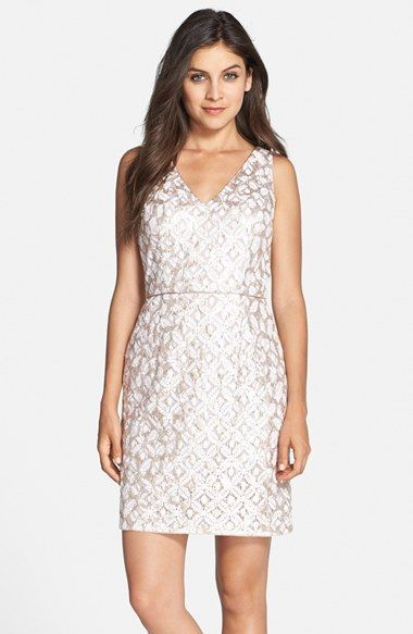 7e3af226 Hailey by Adrianna Papell Sequin Lace Sheath Dress available at #Nordstrom