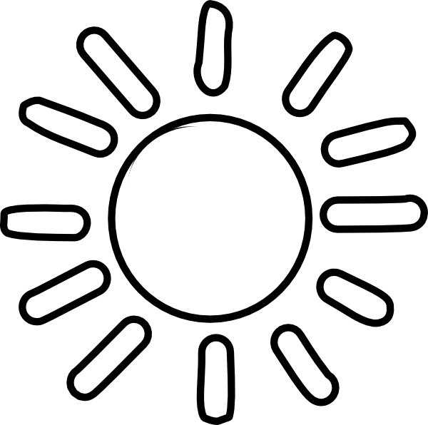Free Sun Clipart Black And White Pictures Clipartix Clip Art Clipart Black And White Free Clip Art