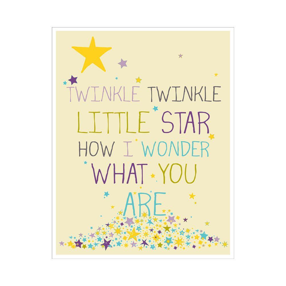 Children\'s Wall Art / Nursery Decor Twinkle Twinkle Little Star ...