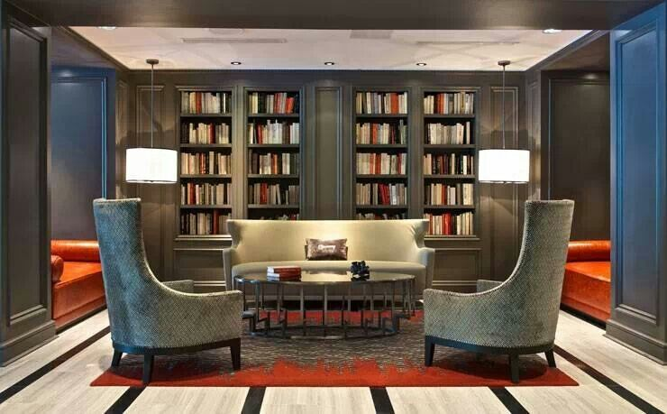 Classy Bookshelves Study Library Interior Design CompaniesCommercial