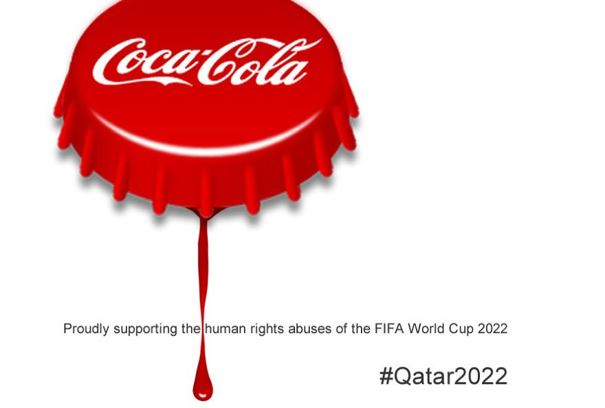 People Make Anti Logos To Urge Sponsors To Withdraw From Qatar 2022 World Cup World Cup World Cup 2022 2022 Fifa World Cup