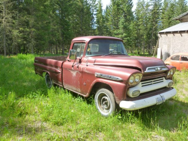 1959 Chevy Vintage Pickup Trucks Chevrolet Apache Classic Cars