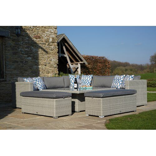 Dunes 9 Seater Rattan Effect Sofa Set