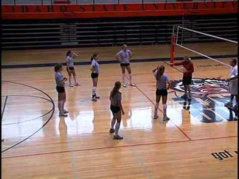 Volleyball Footwork Drills For Passing The Star Drill Flv Youtube Volleyball Tryouts Volleyball Workouts Volleyball Practice