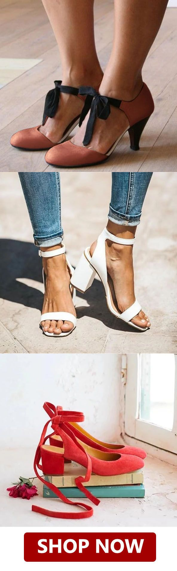Shop Now>>Women Fashion Chunky Heel Sandals is part of Chunky heels sandals -