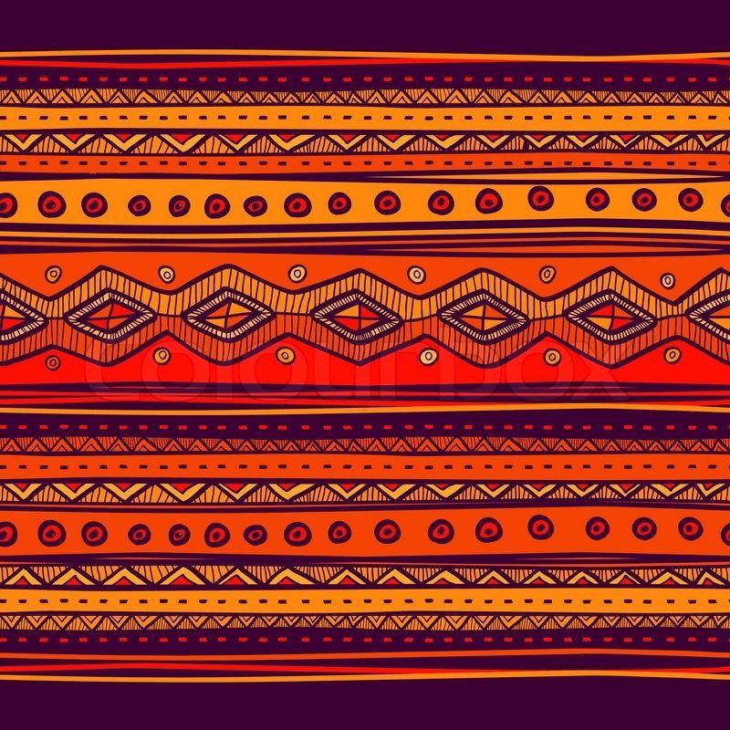 Stock-Vektor von \'Abstrakte handgezeichnete Ethno Muster, Stammes ...