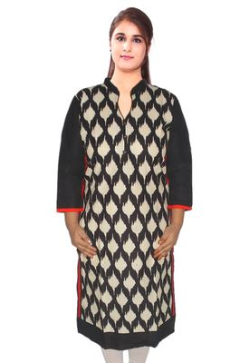 "Designer Geometric Printed Yellow Kurti Ethnic Kurta Xl 42"" Tunic Kurtas and Kurtis For Women"