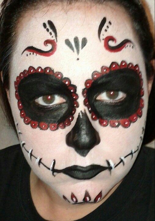 Day of the dead face paint Face Paint Pinterest Halloween - face painting halloween ideas