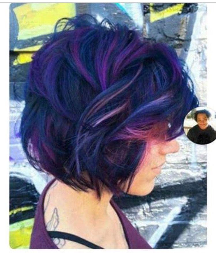 Blurple Hair Short Hair Color Short Hair Styles Hair Styles