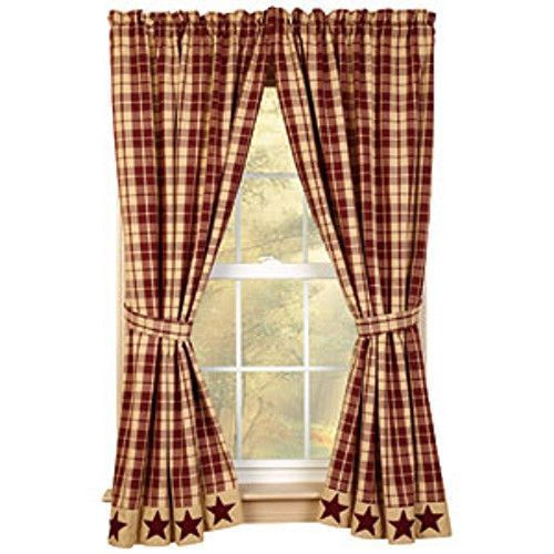 Country Style Curtains, Primitive