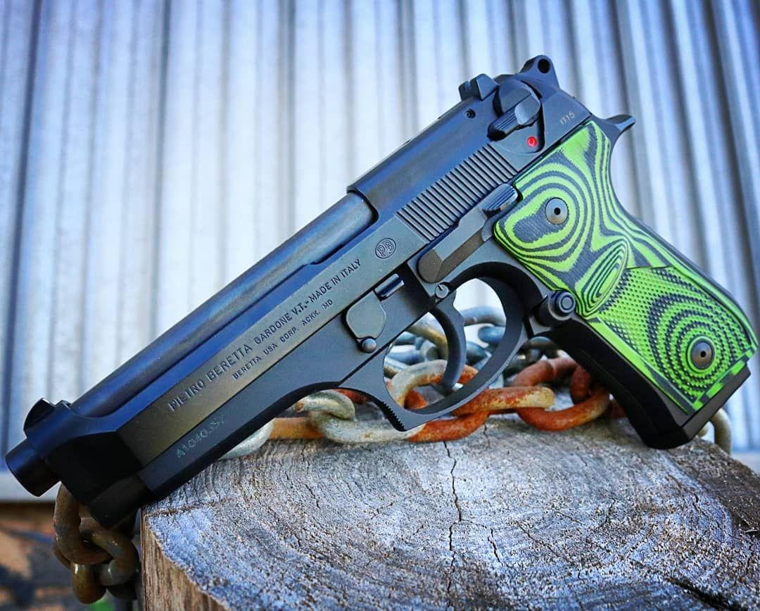 Check out that Zombie Green Black on our Beretta 92 Thin