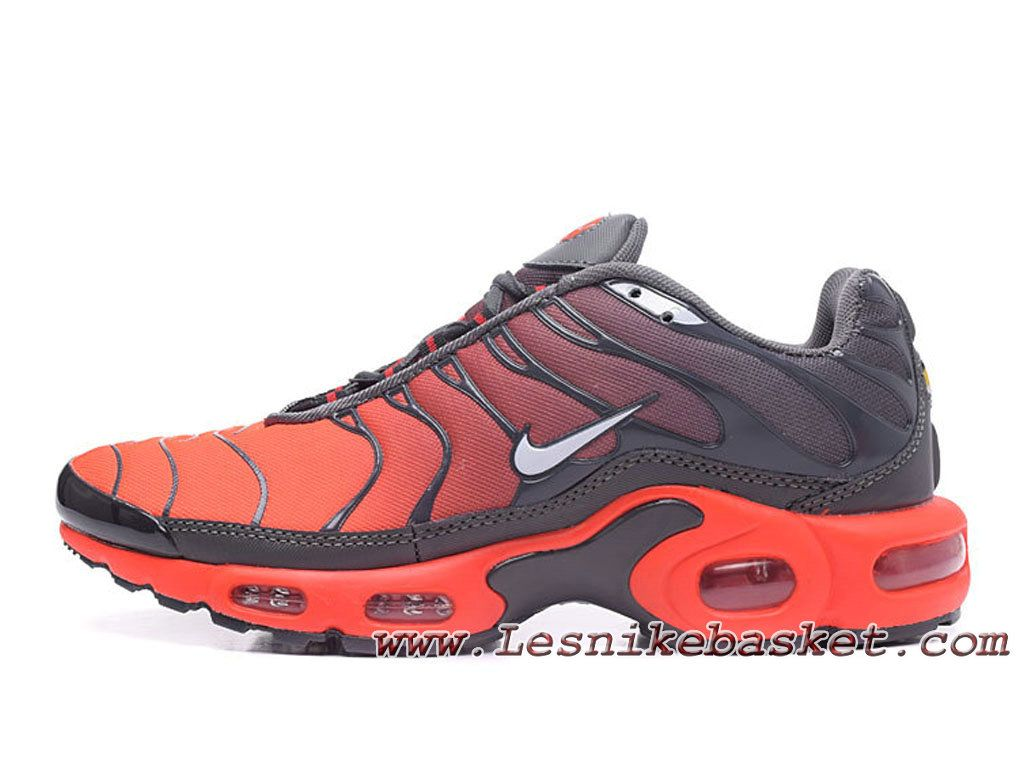 Nike Tuned 1(nike Tn 2017) Gris Orange Chaussues Nike Prix