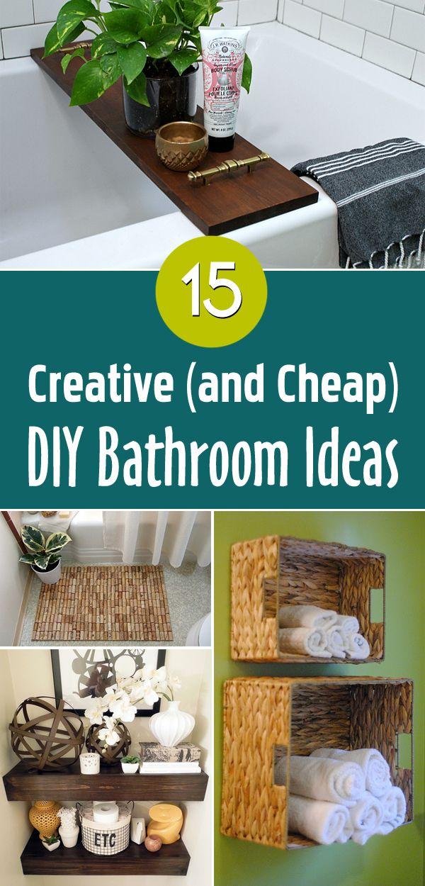 15 Easy Cheap Bathroom Decor Ideas Diy Bathroom Cheap Diy Diy Bathroom Design