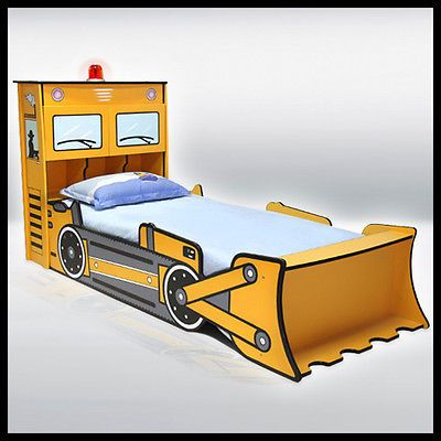 New Dirt Digger Children S Bed With Light Car Bedroom