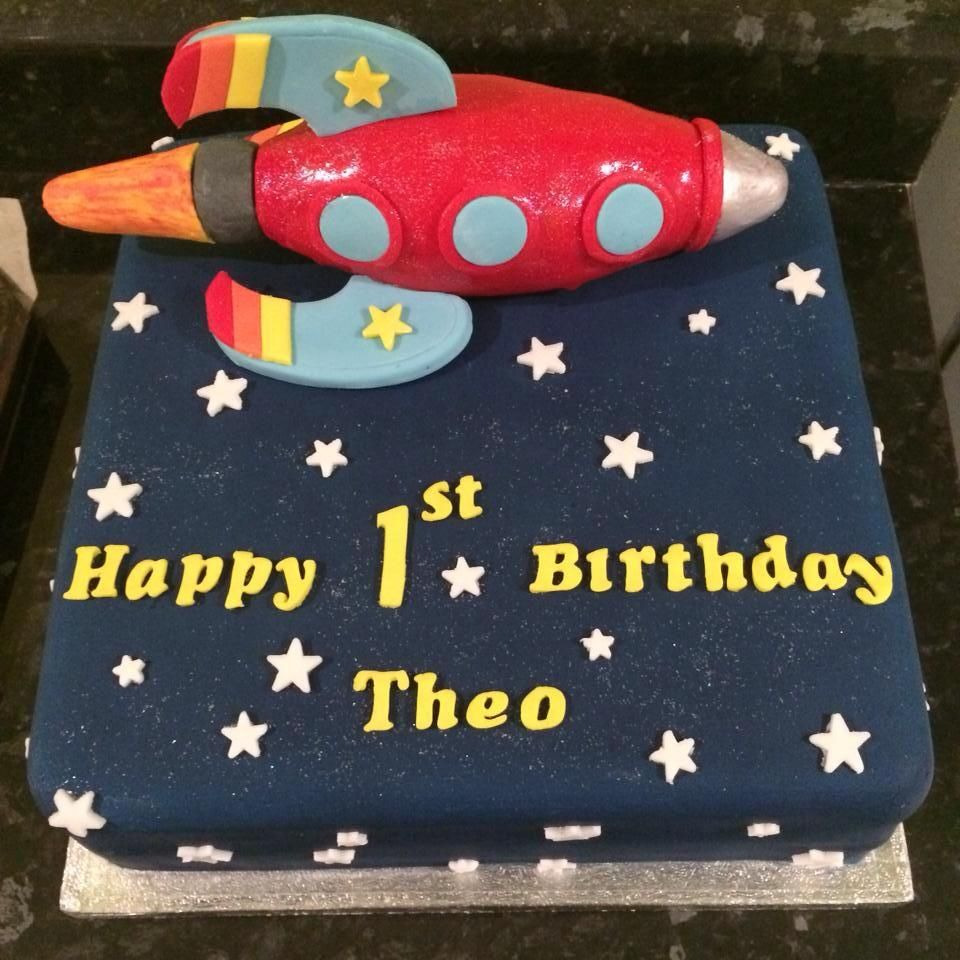 Baby Jake Rocket Cake httpwwwbuddyshomebakerycouk Birthday