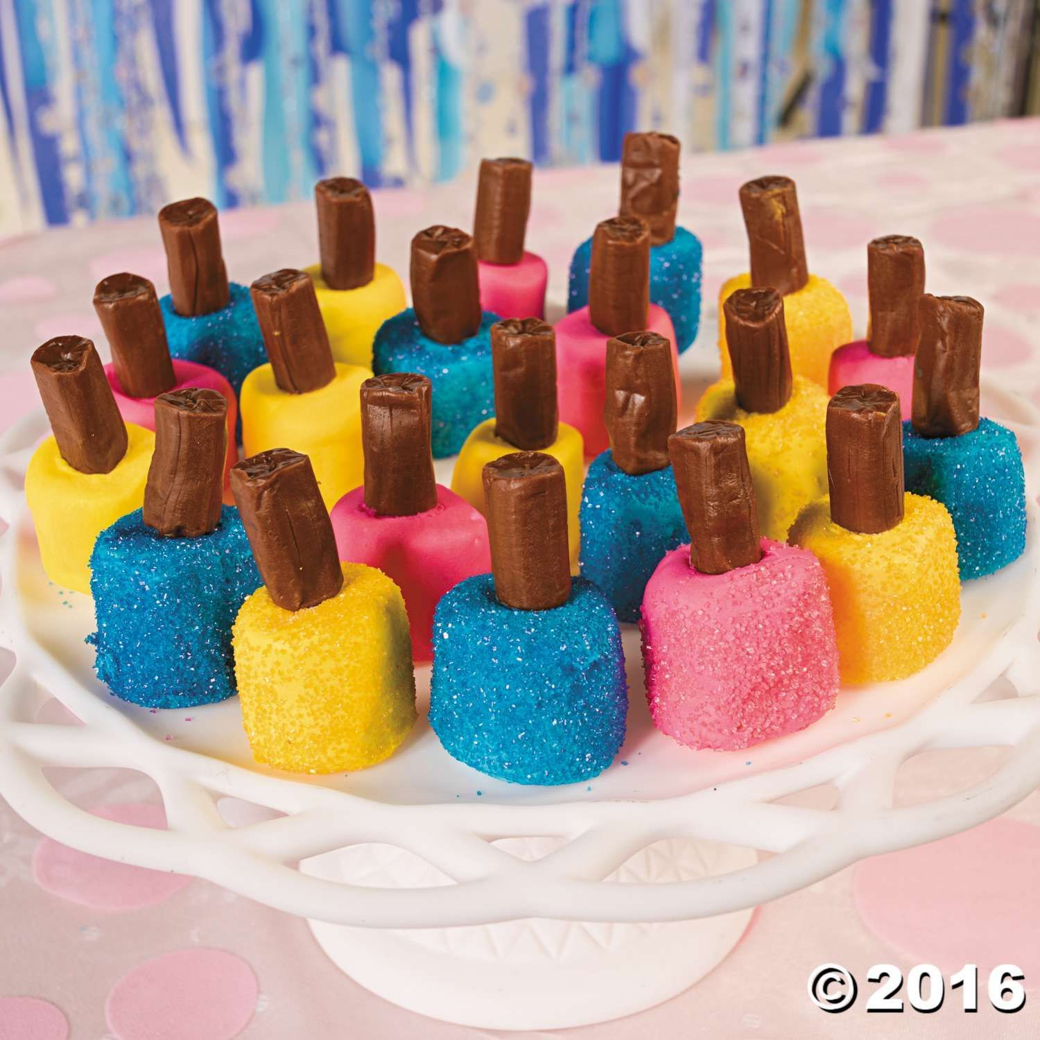 Nail Polish Marshmallow Bites Recipe | teenage girl | Pinterest