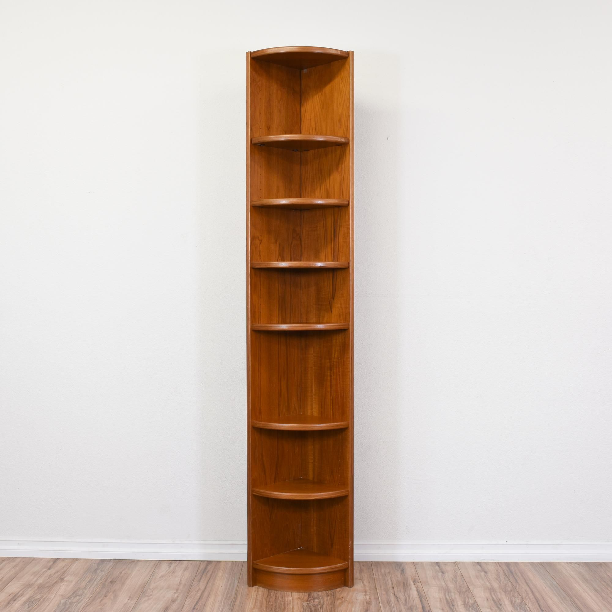 This Bookcase Is In Great Condition With 6 Curved Shelves And A Tall Narrow Design Sleek Mid Century Modern