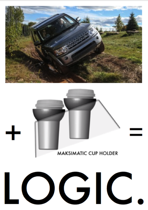 Maksimatic Cupholder nospill cupholder for vehicles