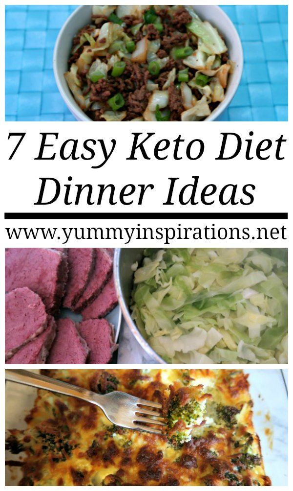 7 Easy Keto Dinner Ideas - Quick Low Carb & Ketogenic Diet Dinners images