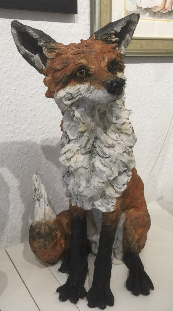 Fox By Louise Brown In 2019 Dog Sculpture Animal